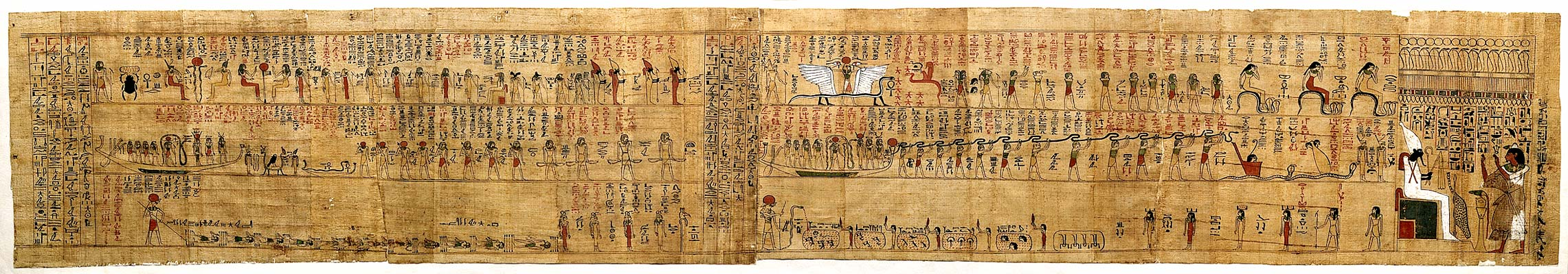 papyrus of hunefer This is an excellent example of one of the many fine vignettes (illustrations) from the book of the dead of huneferthe centrepiece of the upper scene is t.